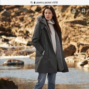 Poetry winter parka